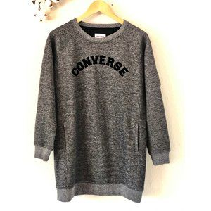 Converse Dark Heather Grey Logo Dress  Size Medium